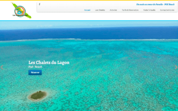 Chalet du lagon Logo Site Internet Nouméa Nouvelle-Calédonie